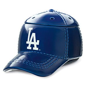 """LA Dodgers fans! It's hats off to America's favorite pastime with our NEW Major League Baseball™ Collection. These officially licensed warmers are """"stitched"""" with your team's logo and look great next to the game ball on your shelf."""