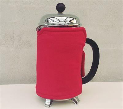 Rød kaffevarmer - kaldet Svend
