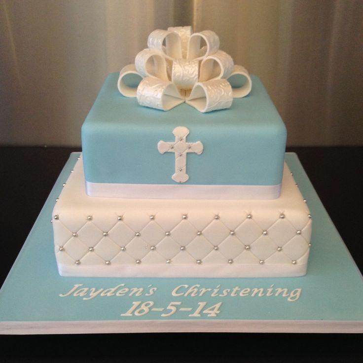 girl christening cake square - Google Search