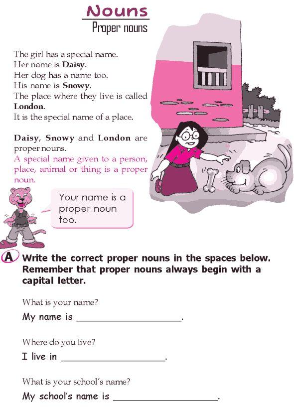 Grade 2 Grammar Lesson 5 Nouns Proper Nouns Grammar