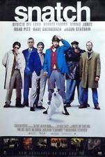 Snatch Movie Poster 27x40 Used Dave Legeno, William Beck, Tom Delmar, Brad Pitt, Vinnie Jones, Sam Douglas, Dennis Farina, Rade Serbedzija, Adam Fogerty, Mike Reid, Stephen Graham, Tim Faraday