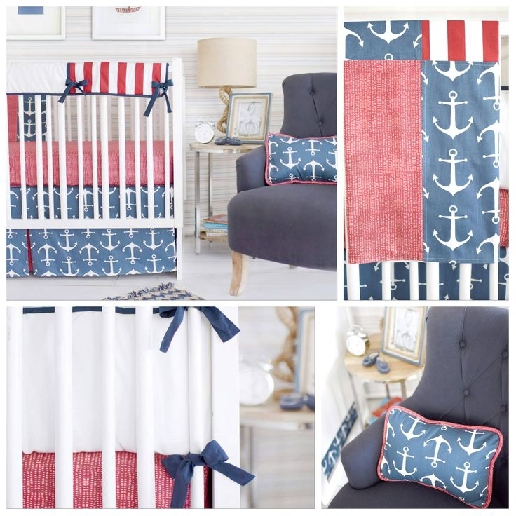Create the #nursery of your dreams with the #NewArrivalsInc Crib Bedding Collection. Keep your little sailor snuggled up and cozy with the Anchor Navy in blue & red with a #charming white anchor applique. Check the new set at http://www.petit.com.au #babybeddings #babyideas #nurseryroom #cribbeddings #babysroom #babycomfort #goodnightsleep #babylove #bedtime #sleeptight #petitaustralia #freedelivery #wholesale #retail #orderonline