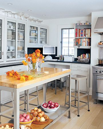 Like this kitchen except for the Mac. That would move to the office.