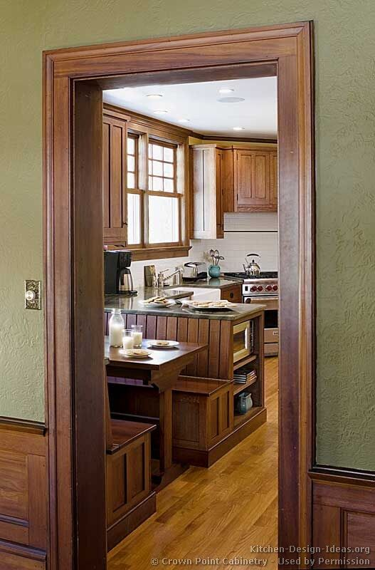 I like painted trim, but am looking for inspiration in stained wood  because my new ( old ) house is full of it.