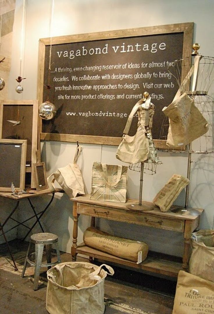 Pegboard Wall Antique Booth Idea