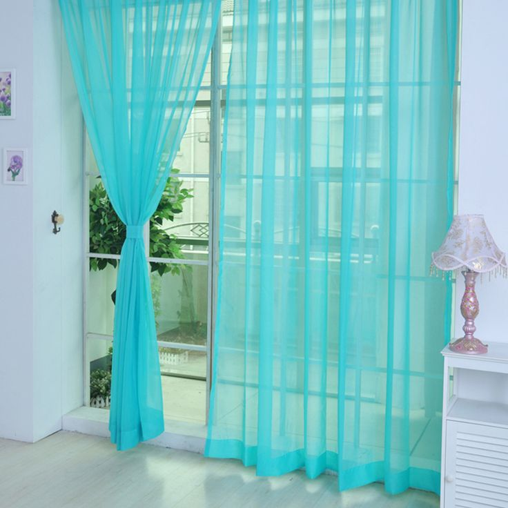 12 Сплошных Цветов Экологически Чистый Voile Тюль Пряжи Окрашенные Панели Окна шторы для Гостиной Окна Спальни