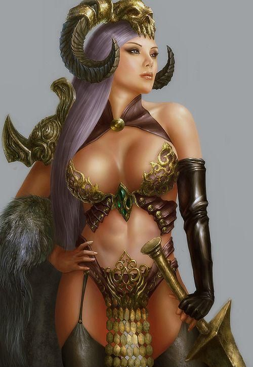 Porn erotic woman warrior fantasy art