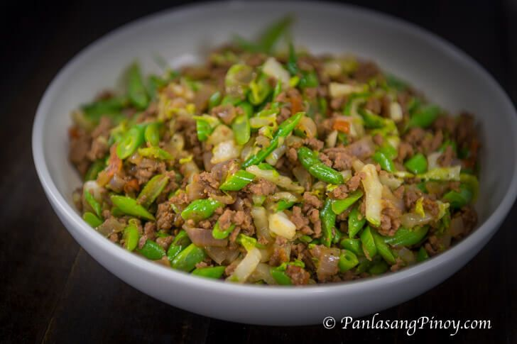 Sauteed Green Beans With Ground Beef Panlasang Pinoy Recipe Sauteed Green Beans Ground Beef Recipes Green Beans