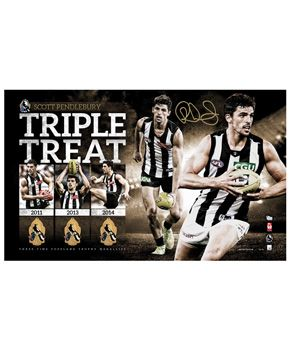 Collingwood Football Club Triple Treat 2014 Copeland Trophy Lithograph