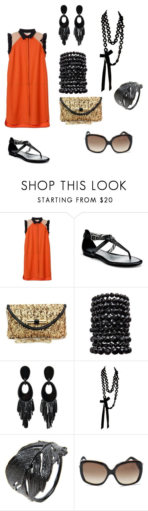 """Untitled #223"" by maria-rosa-pallones ❤ liked on Polyvore featuring Marni, Sperry, Jimmy Choo, Pieces, Monies, Sally Phillips, Alex Monroe and Versace"