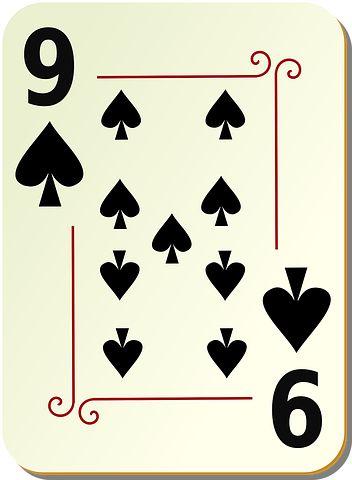 Nine, Spades, Playing Cards, Poker