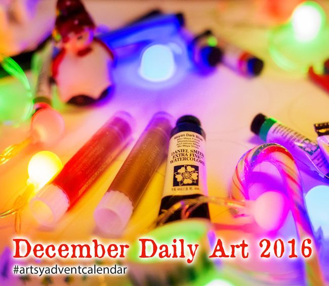 Cre8tive Cre8tions by Andrea Gomoll | December Daily Art 2016: Artsy Advent Calendar – join me for the fun and a Chance to win | http://andrea-gomoll.de