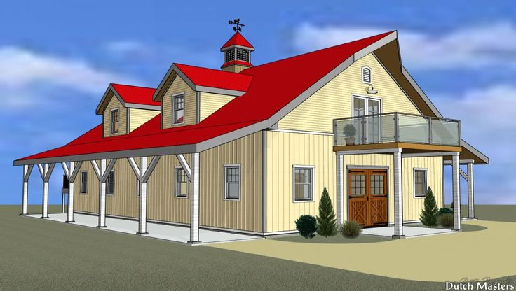 Stable with Hayloft - Dutch Masters Design & Construction Horse Barn Builders, Ontario