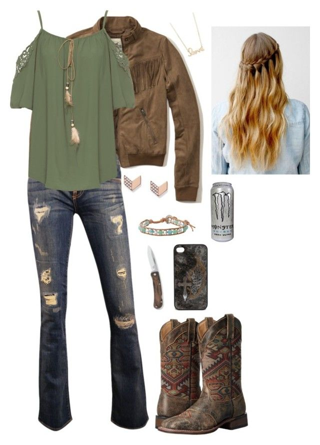 """Untitled #260"" by horselover2409 ❤ liked on Polyvore featuring Hollister Co., WearAll, Laredo, FOSSIL, Sydney Evan, Blazin Roxx and Chan Luu"