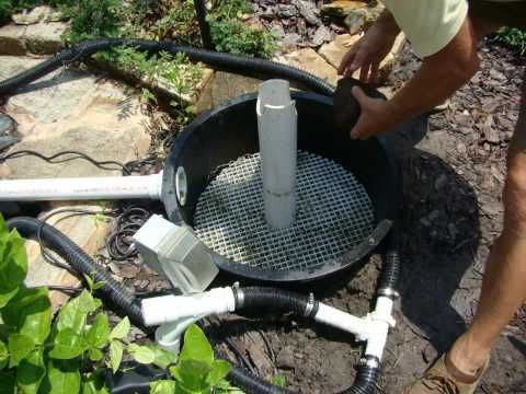 Diy how to build your own bio filter system for kio pond for How to make koi pond water clear