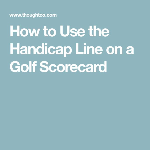 How to Use the Handicap Line on a Golf Scorecard