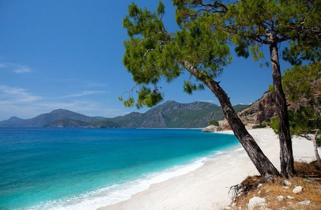 Doğa Harikası FETHİYE - Kıdrak Plajı: Belceğiz'in 3 km. güneyindeki koy, sık çam ağaçları, temiz kumsalı ve berrak denizi ile ideal bir günübirlik dinlenme yeridir.