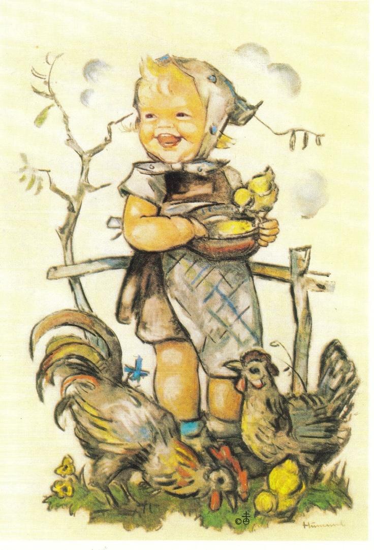 Vintage Hummel Postcard