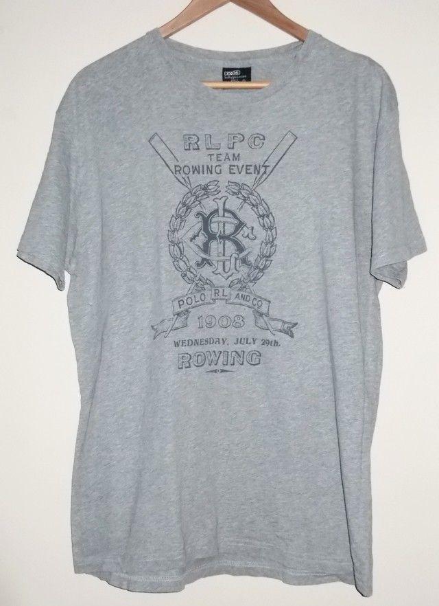 Vintage Ralph Lauren Polo Mens T Shirt RLPC Team Rowing Event Size Small #RalphLauren