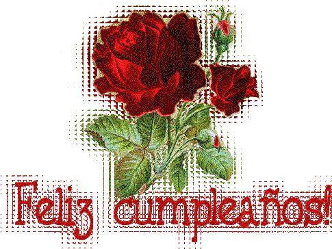Feliz Cumpleaños con rosas rojas - ツ Imagenes y Tarjetas para Felicitar en Cumpleaños ツ