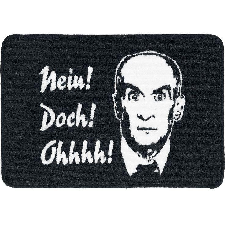 """Wer kennt es nicht """"Nein! Doch! Ohhhh!"""". Diesen berühmten Spruch bekommt ihr hier auf dieser schwarzen Fussmatte """"Nein! Doch! Ohhhh!"""" von Louis de Funés. Sau gut, oder?! #neindochohhh #funartikel #empstyle"""