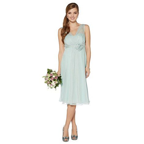 Debut Light green corsage detail midi dress- at Debenhams Mobile