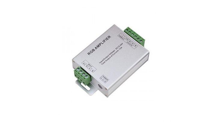RGB led szalag jelerősítő 144W 12V/24V (OA),Led szalag vezérlők,2.490 Ft