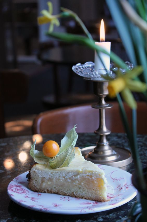 The Easter time pie with lemon and quark in Samovarbar, Suomenlinna.