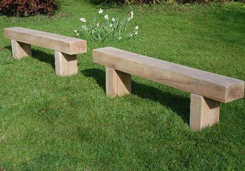 A lovely set of benches made from sleepers that will look great in any location