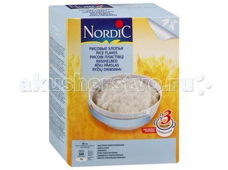 Nordic Безмолочная каша Рисовые хлопья 800 г  — 340р. ----------  Безмолочная каша Рисовые хлопья - это сочетание традиционного вкуса, легкости и быстроты приготовления. По своей питательности рис превосходит хлебные злаковые растения. Он отличается высоким содержанием углеводов и большой энергетической ценностью. В нем много фосфора, магния и витамина PP, умеренное количество белка, калия и железа, а также пищевых волокон. Уникальная технология производства хлопьев «Nordic» позволяет…