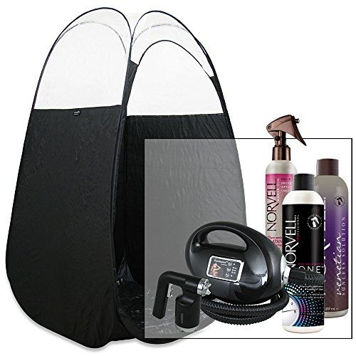 Black Fascination Spray Tanning Machine and Kit with Norvell Airbrush Tan Solution Bundle and Black Tent  http://www.personalcareclub.com/black-fascination-spray-tanning-machine-and-kit-with-norvell-airbrush-tan-solution-bundle-and-black-tent/
