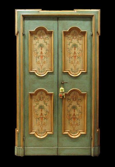 Repro Italian Antique Tarot Minchiate Cards 1 790: Reproduction Of Antique Italian Painted Door