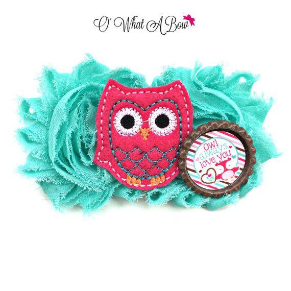 Owl Baby Owl Headband Owl Newborn Owl Hair Bow Owl by OWhatABow