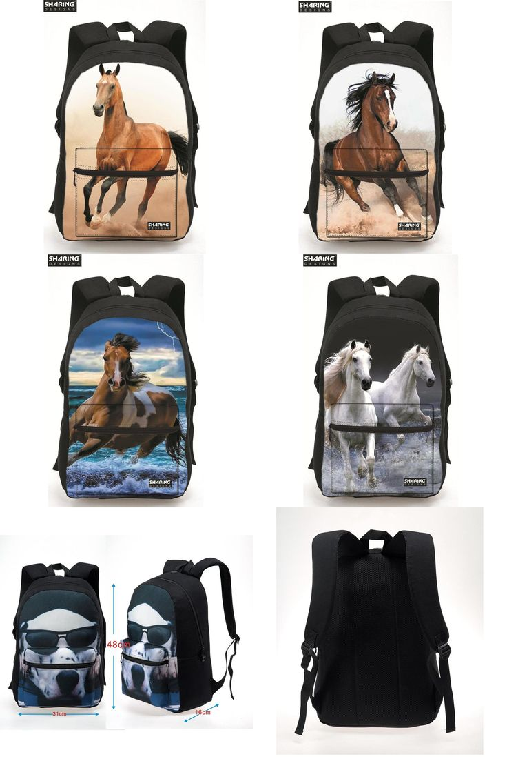 [Visit to Buy] Cute 3D Animal Children backpack Horse Printing Laptop Shoulder Bag Kids Schoobag Women Mens Travel Bags Mochila Infantil #Advertisement