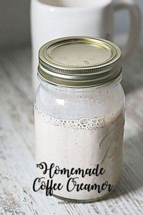 This homemade coffee creamer comes together quickly and it's made with only a few simple ingredients. I like to make my own coffee creamers at home whenever I can. This homemade coffee creame…