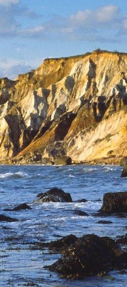 Explore the Aquinnah Cliffs in Martha's Vineyard.