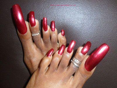 sexy long toenails miss christina fondness strike