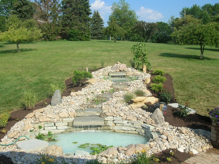 Water Feature Down A Hillside Water Features Lawn And 400 x 300