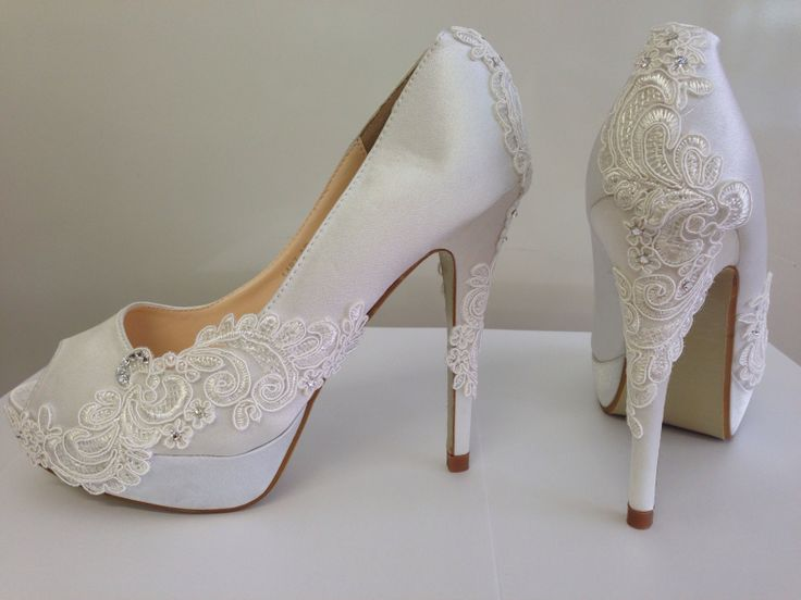 Cecile's Jewellery  Lace and Swarovski crystal shoes