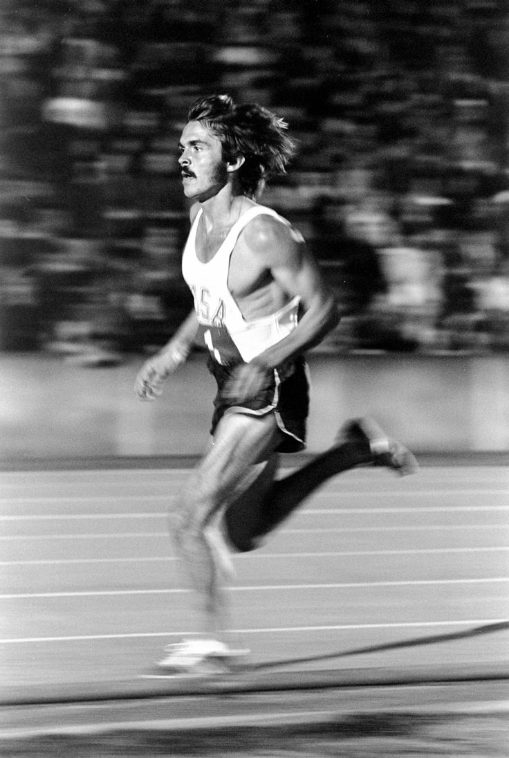 """""""Some people create with words or with music or with a brush and paints. I like to make something beautiful when I run. I like to make people stop and say, 'I've never seen anyone run like that before.' It's more than just a race, it's a style. It's doing something better than anyone else. It's being creative."""" - Steve Prefontaine"""