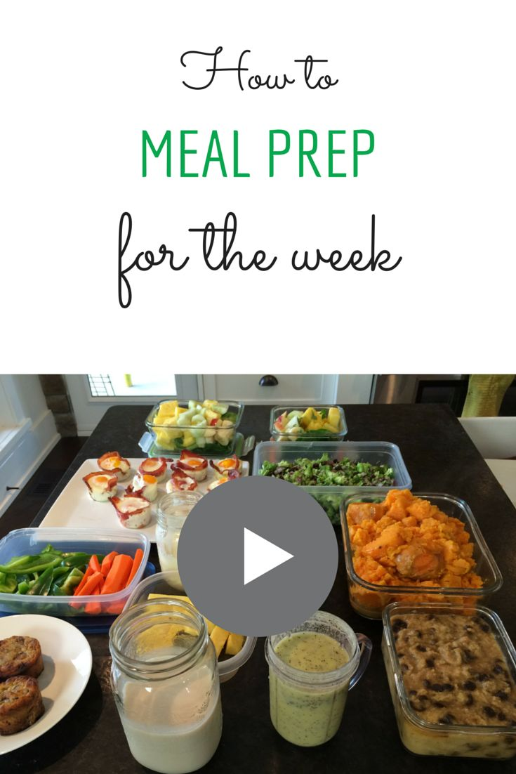 Learn how to do meal prep for the week so that you can make time to do the things that you love.