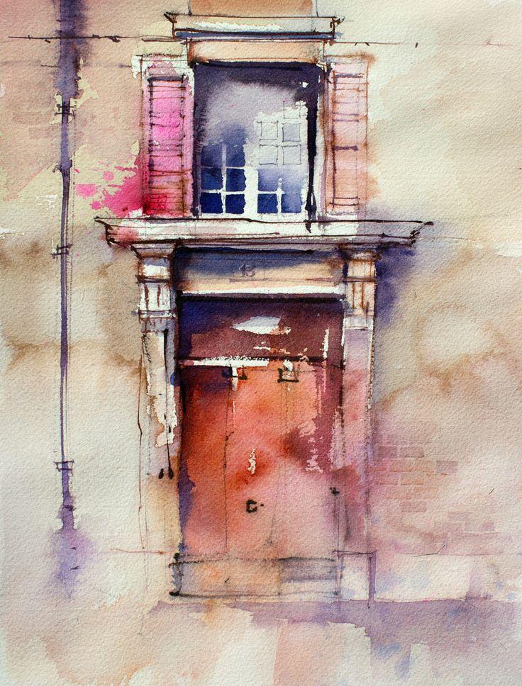 Beautiful #watercolor! John Lovett I adore the whimsical but mystical #nature, beautiful colour