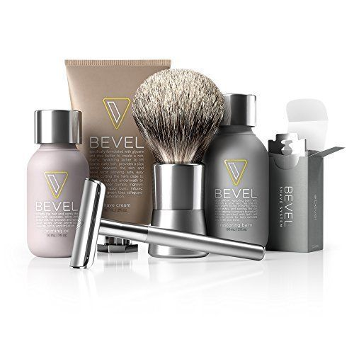 Shave set System 3 Month Safety Razor Creams 60 Blades Bumps Shaving Brush #Shaveset