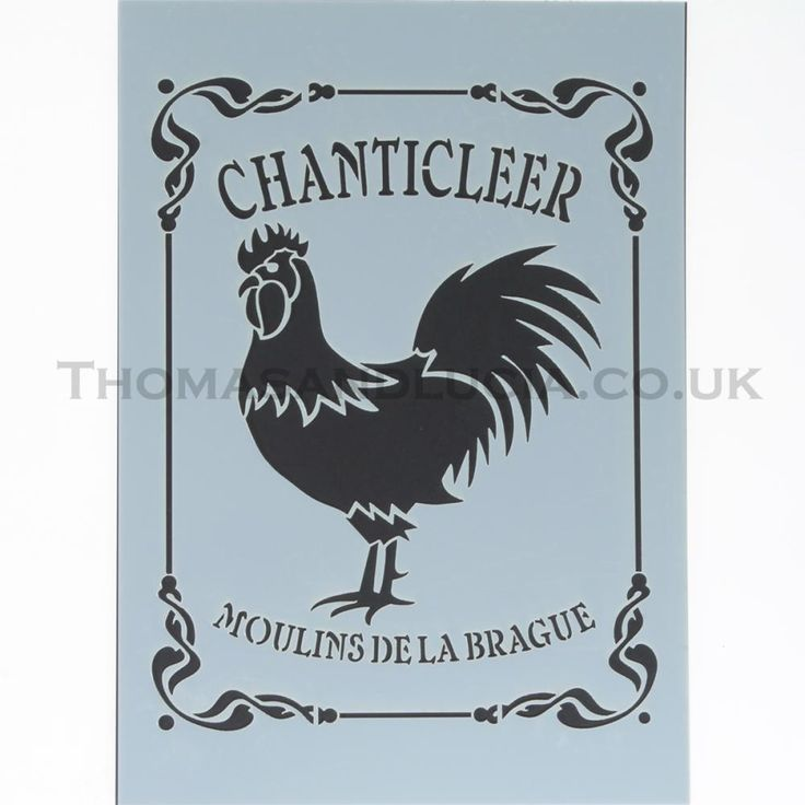Rooster stencil | £12.50 | Rooster Stencil | Thomas & Lucia - Dorset, UK