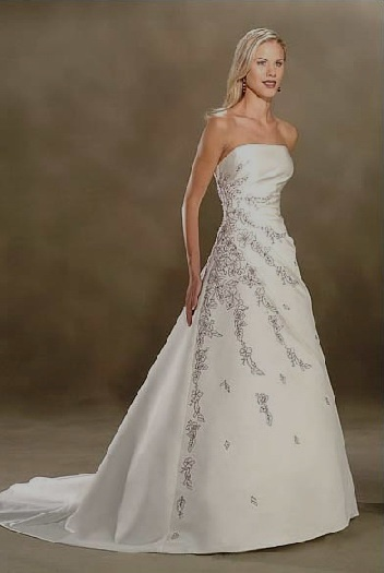 wedding dresses strapless picture