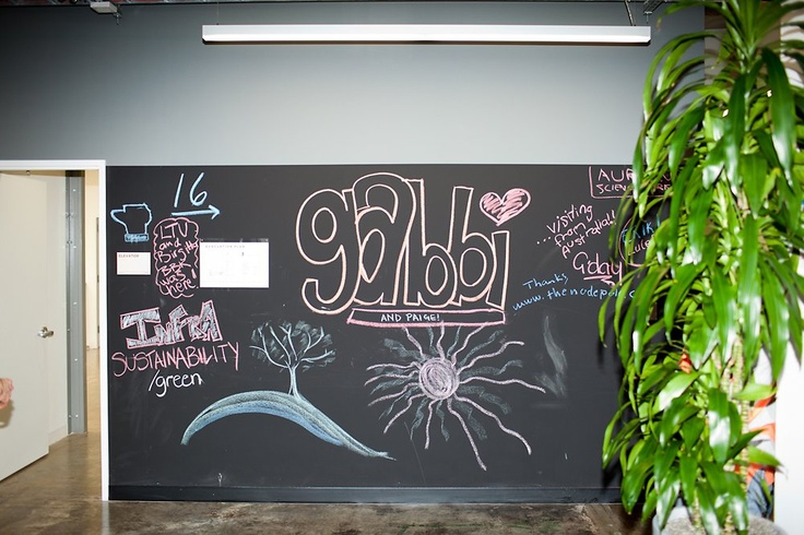 Chalkboard Wall - think this might even be better than a whiteboard ...: Chalkboard Walls, Million Squares Foot Campus, Facebook Million Squares Foot, Posts Colleges, Offices Spaces, Offices Idea, Being Better, Chalkboards Wall, Colleges Budget