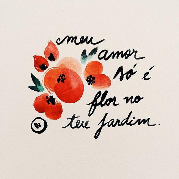 Canson Colorido é um perfil no Instagram que traz frases sobre o amor, sobre cores, sobre flores e sobre a vida, com ilustrações em aquarela. Inspire-se!