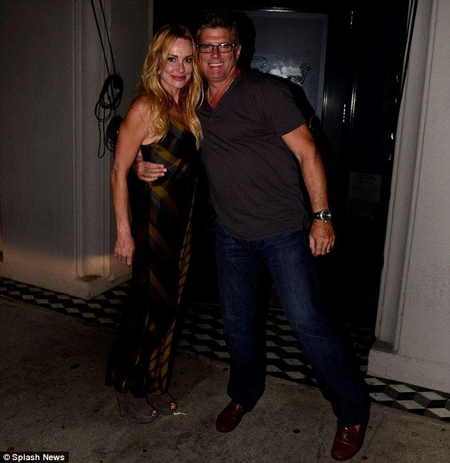 Sweet life: Taylor Armstrong was all smiles after having dinner at Craig's in West Hollywood on Saturday night, with her husband John Bluher