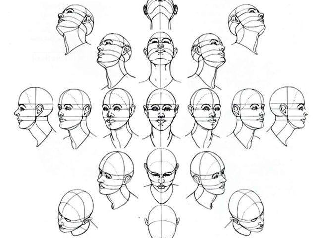 Drawing heads at an angle always goes a bit wrong, this should help!