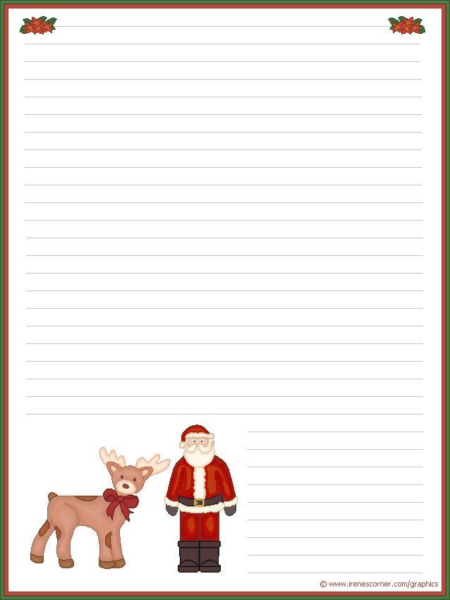 papier à lettre pour écrire au père noel